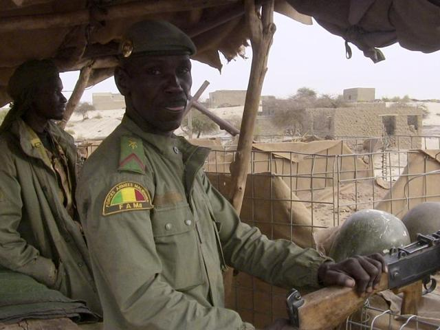 Twelve soldiers were killed and more than 30 were wounded in an attack early Tuesday on an army camp in central Mali.