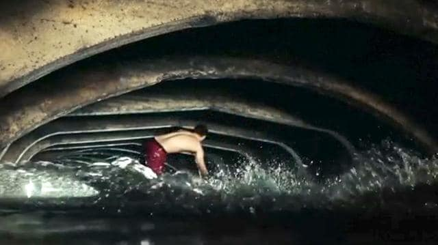 Wakeboarders used a Victorian storm drain in northern England as a water park on June 25-26 as they rode in the forgotten location in the English city of Sheffield. The project, called Beneath Our Streets, was created by video director Edward Birch who wanted to celebrate Sheffield's hidden secrets, he said.Two Sheffield-born wakeboarders, Josh Tomlinson and Brad Beech, were chosen to tackle the low arches and dark waters. Sheffield's Victorian storm drain, or The Megatron as it is known, was built in the mid 19th century to prevent the city from flooding and its location is largely kept confidential to prevent trespassing.