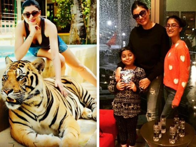Sushmita Sen is vacationing in Thailand with her daughters, Renee and Alisah.