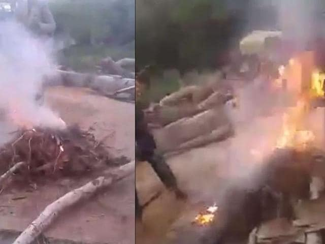 Shocking video of cruelty against animals has emerged from Hyderabad showing young boys setting three puppies on fire. They set the puppies on fire and recorded a video and posted it online.