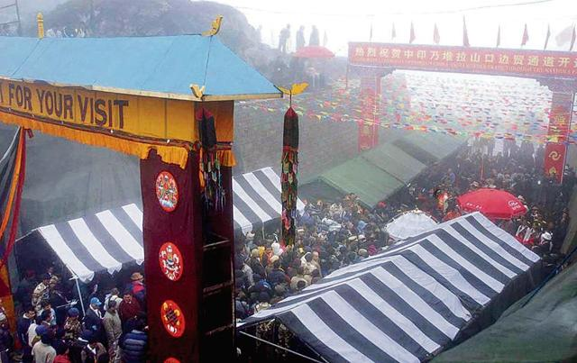 Trade through Nathu La pass in Sikkim, the highest land pass for trade, was ₹28 crore in 2014.
