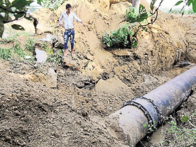 The Huda said that it has repaired leakage in the master pipeline near Signature Tower on Tuesday.
