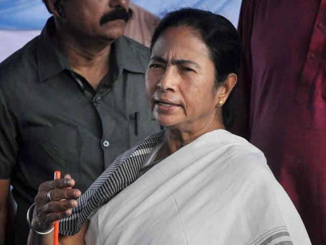 West Bengal chief minister Mamata Banerjee at Uttarkanya near Siliguri.