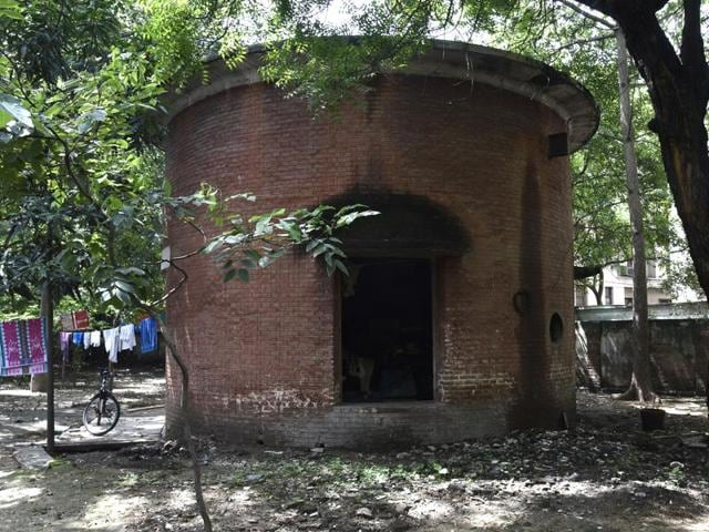 Area identified for constructing an underground reservoir at Anand Lok in New Delhi. The locality has been facing acute water shortage for last 15 years.