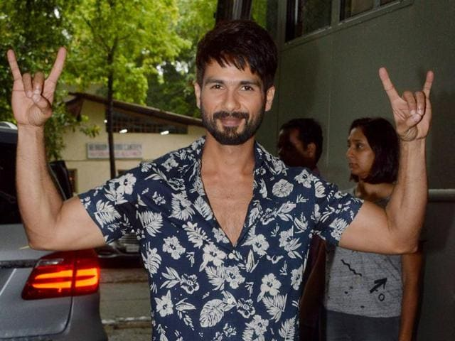 Actor Shahid Kapoor likes to listen to music during