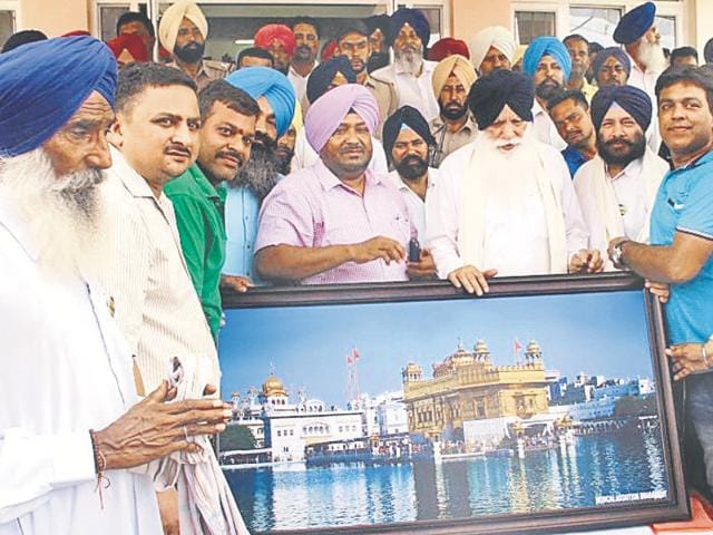 Agriculture minister Tota Singh inaugurating a primary health centre in Dharamkot on Tuesday.