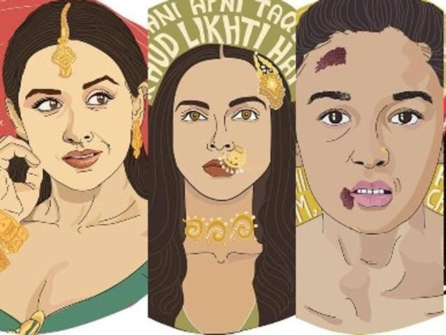 These illustrations by Mumbai illustrator Shivani Gorle prove that a movie heroine is just as badass as a hero.