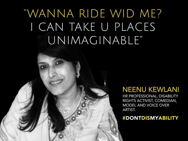 The event will feature people like disability rights activist and toastmaster Neenu Kewlani who will talk about  society's perceptions about her sexuality and desirability.