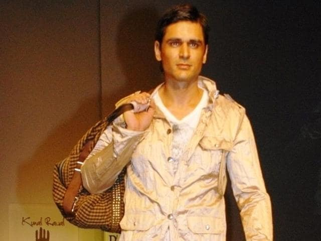 A model sporting military fashion