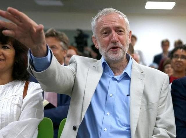 Leader of the Labour Party, Jeremy Corbyn, speaks at the launch of his new leadership campaign in London on Thursday.