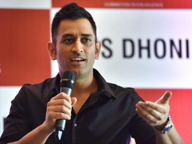 India's ODI skipper MS Dhoni speaks during a press conference in New Delhi.