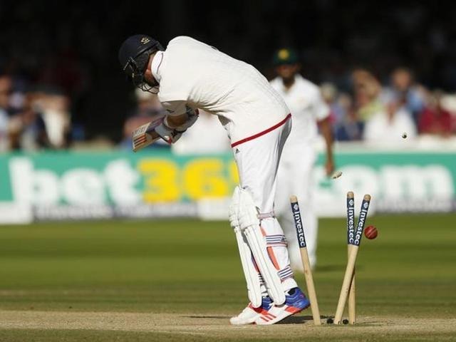 England's James Vince in action against Pakistan.