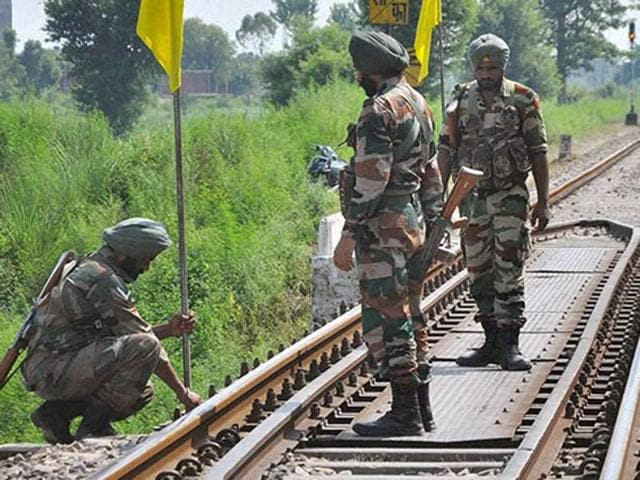 One place where combat apparel, like uniforms, shoes, badges and other gear used by armed forces, are sold is at the Railway Market at Pathankot.