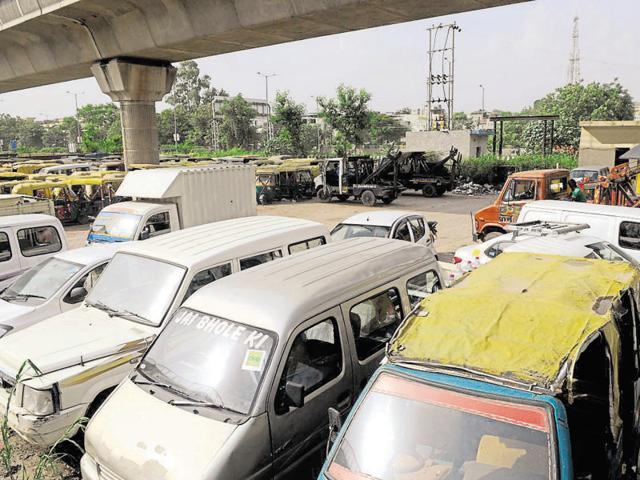 The traffic and transport departments, which are responsible to enforce the ban, have been demanding additional space to store impounded vehicles from the Noida authority for long.