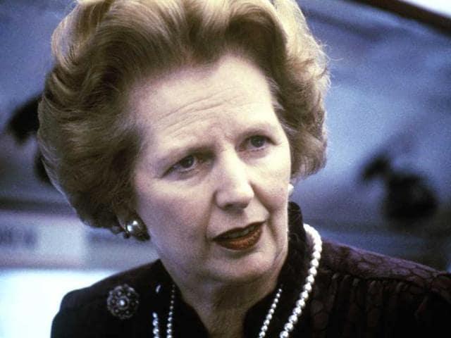 A 1969 photo showing former British prime minister Margaret Thatcher.