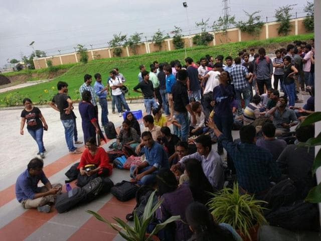 IIT Indore students boycotted classes on Thursday.