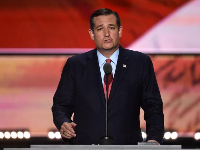 US senator Ted Cruz of Texas speaks on the third day of the Republican National Convention in Cleveland, Ohio.