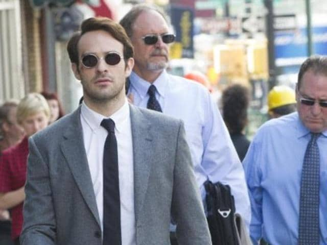 Charlie Cox, Deborah Ann Woll and Elden Henson in Daredevil Season 2.