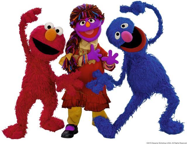 Chamki, the muppet on Galli Galli Sim Sim, has become a popular mascot for education