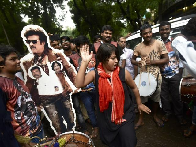 Rajnikanth fans celebrate at Matunga.