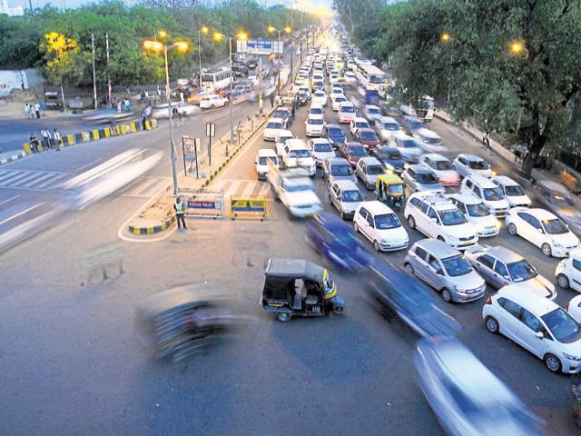 The three intersections, including Rajiv Chowk (above), where the underpasses are proposed are notorious for congestion.