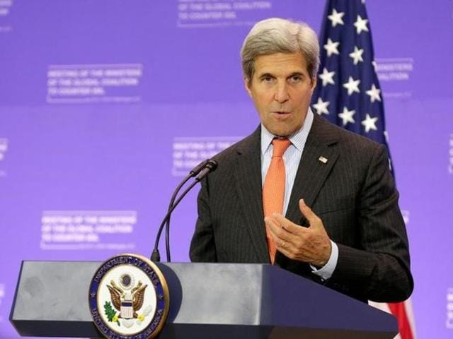 US secretary of state John Kerry is try to reinforce hope that ASEAN nations find a diplomatic solution to tensions over the South China Sea, according to an aide.