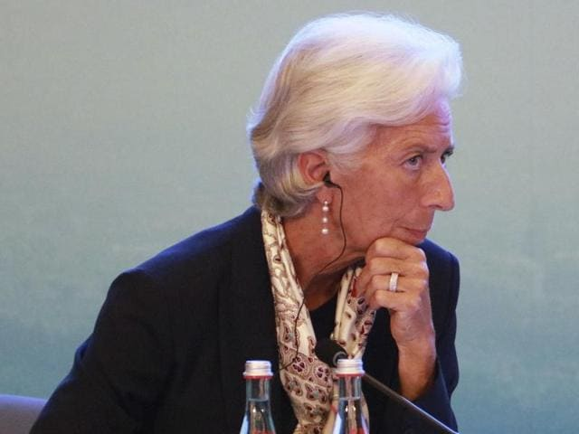 Christine Lagarde, jmanaging director of the International Monetary Fund at the G20 High-level Tax Symposium held in Chengdu, China, on Saturday.