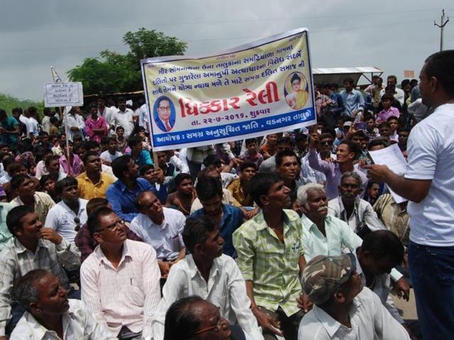 Dalit protests in Vadnagar