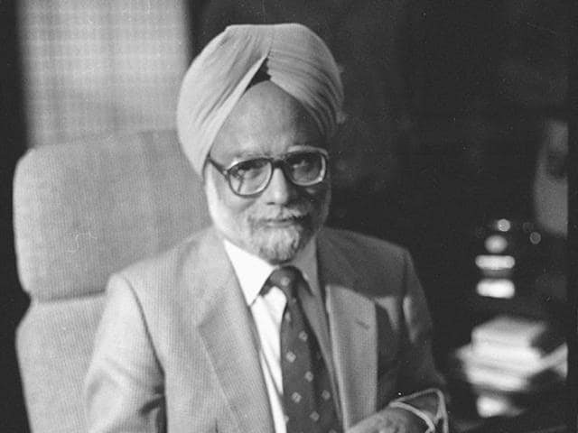 Manmohan Singh in his office on October 24, 1991.  He had a meeting with the then IMF chief that day.