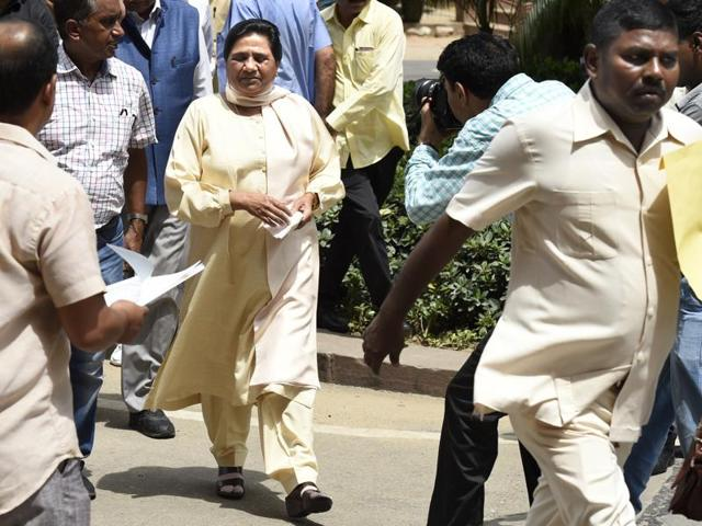 BSP supremo Mayawati rushed to the state capital to consult with party leaders and chalk out future course of action regarding expelled BJP leader Dayashankar Singh.