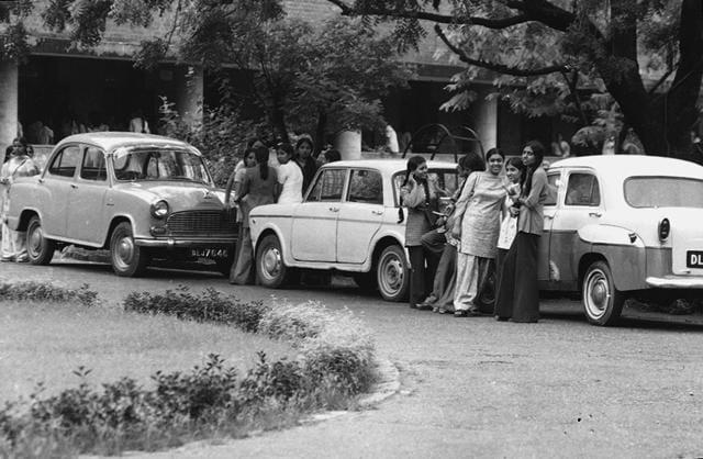 Delhi University, in 1976.