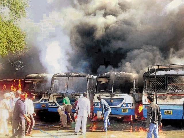Jat quota violence,Judicial officers,cops' role