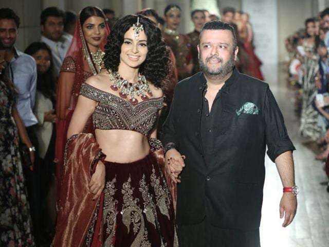 Kangana Ranaut walked the ramp for designer Manav Gangwani on Sunday, the final day of India Couture Week 2016.