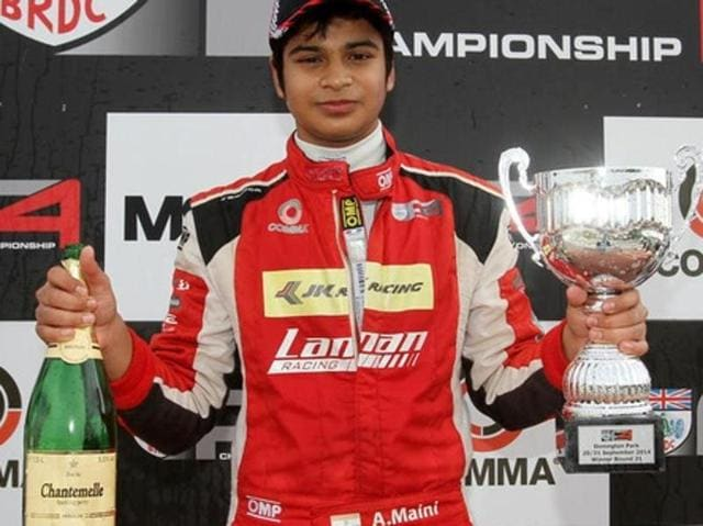 A file photo of Indian racer Arjun Maini.