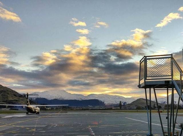 A general view of the Queenstown airport.