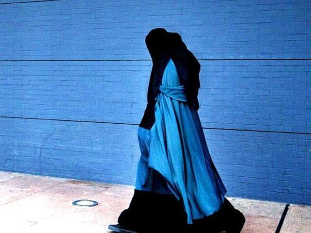 A file photo of a burqa-wearing woman.
