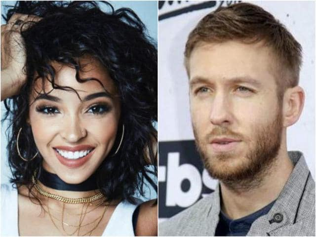 The duo, Tinashe (left) and Calvin Harris first met in 2014 when they collaborated for a song called Dollar Signs.