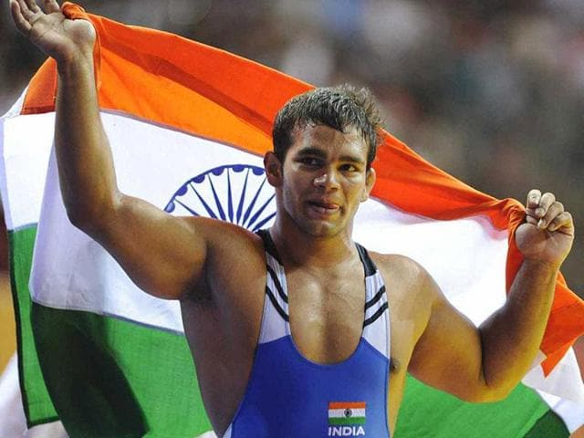 File photo of Narsingh Pancham Yadav. Yadav has claimed innocence saying that the doping scandal is a conspiracy against him.