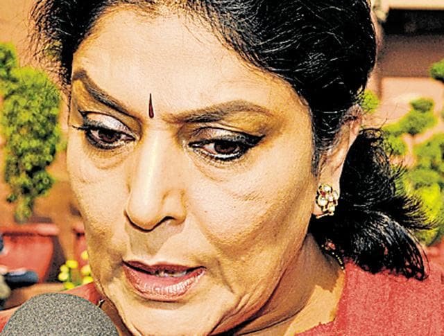 "Renuka on Saturday accused the minister of resorting to ""cheap political drama for two minutes of fame""."