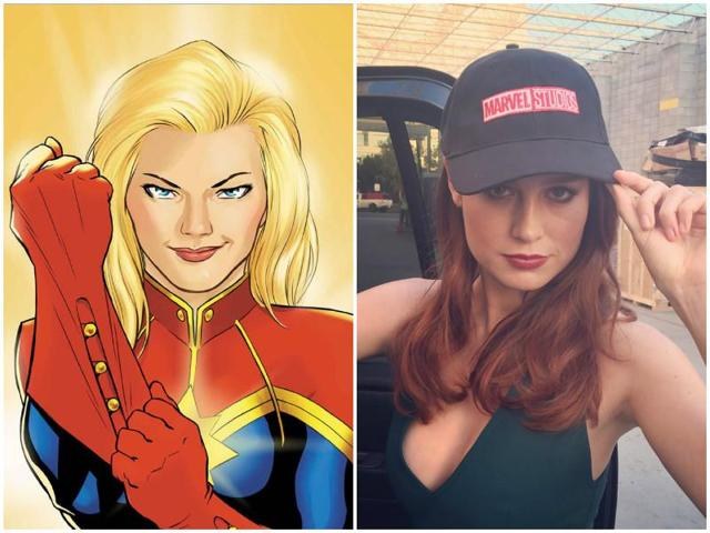 The studio, in an announcement at San Diego Comic-Con on Saturday, said Larson would play the title character Carol Danvers, also known as Captain Marvel.