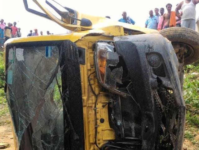 Bhadohi,Accident,Schoolchildren