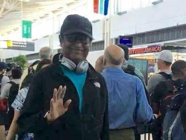 Tamil superstar Rajinikanth has returned to India from his month-long vacation in the US with daughter Aishwarya Dhanush.