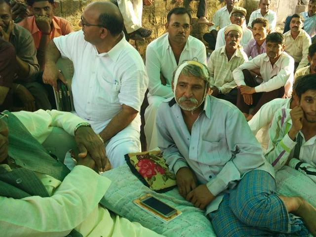 Balubhai Sarvaiya in his village called Mota Samadhiyala. He was among the five men who were assaulted by a 'cow-protection' group.