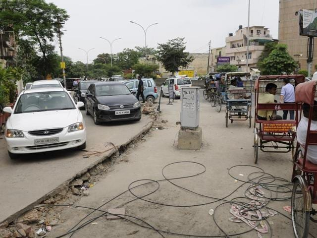 Authority officials said they have removed the iron fencing as people were using the demarcated space to park their vehicles.