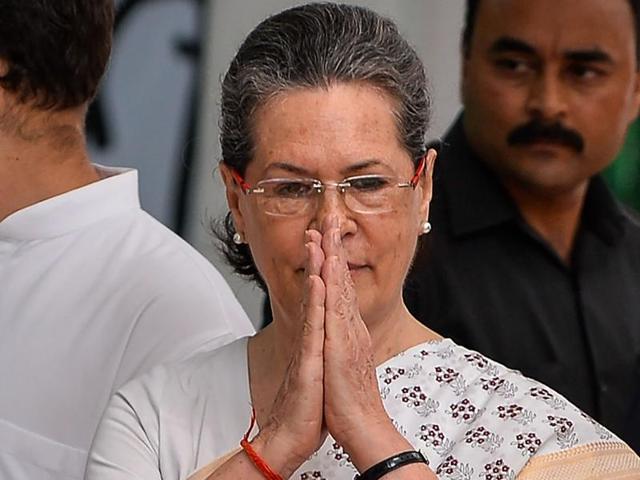 Congress president Sonia Gandhi during the launch of poll campaign in Uttar Pradesh, in New Delhi.