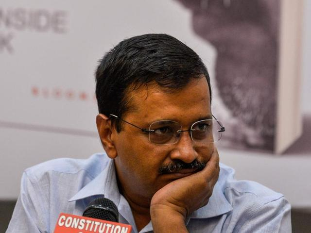 Delhi chief minister Arvind Kejriwal has filed a plea to stay the proceedings in a criminal defamation case filed against him by finance minister Arun Jaitley.