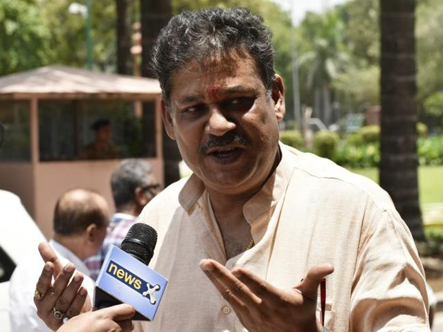 Kirti Azad during monsoon session of Parliament in New Delhi.