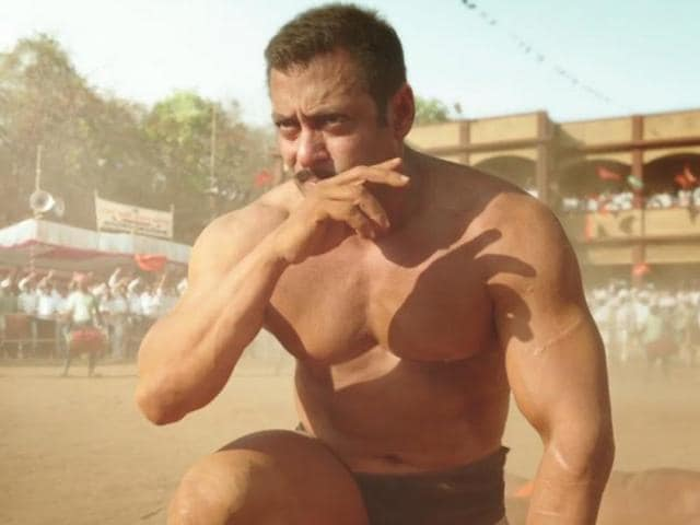 Actor Salman Khan in a still from the film, Sultan.