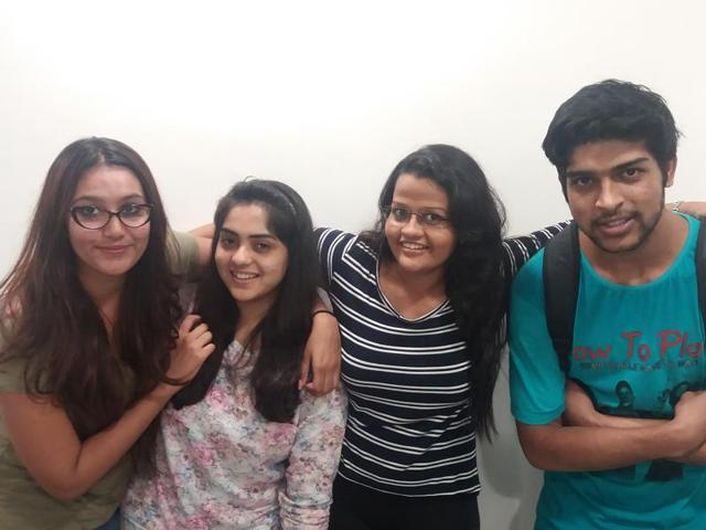 The group that has taken up the cause -- Kantesh Keswani, Harshida Shah, Raina Saxena and Iesha Chaudhari.
