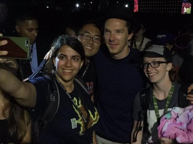 Cumberbatch was stunned to find a huge queue of people waiting overnight for his Doctor Strange panel at San Diego Comic-Con.